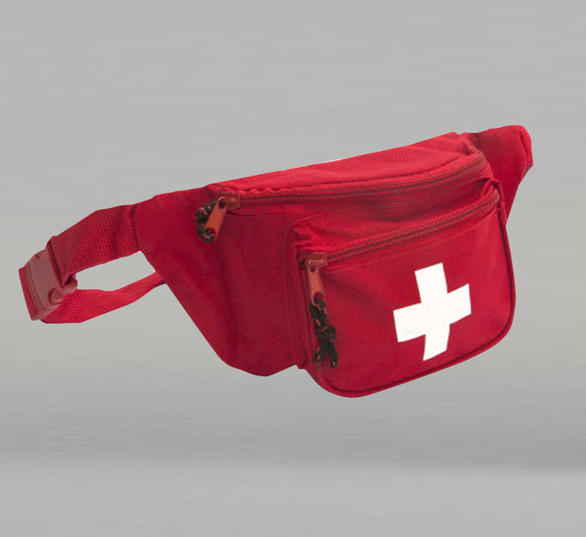 ANSI 2015 Class A First Aid Kit in Red Fanny Pack